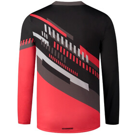 Shimano Myoko LS Jersey Men, black/red
